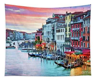 Venetian Sunset Tapestry