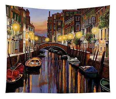 Venice At Dusk Tapestry