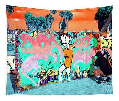 Venice Beach Graffiti Pop Art Tapestry