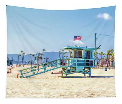 Venice Beach Lifeguard Station Tapestry