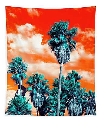 Venice Beach Palm Trees Pop Art Tapestry