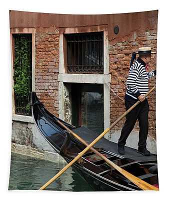 Venice Gondolier Tapestry