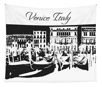 Venice Italy Silhouette Tapestry