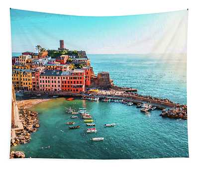 Vernazza Cinque Terre Italy - Dwp1721001 Tapestry