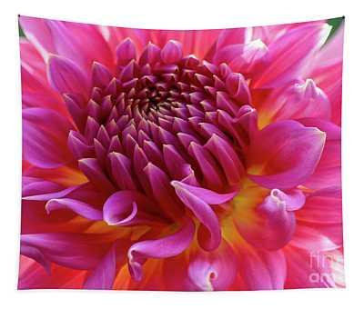 Vibrant Dahlia Tapestry