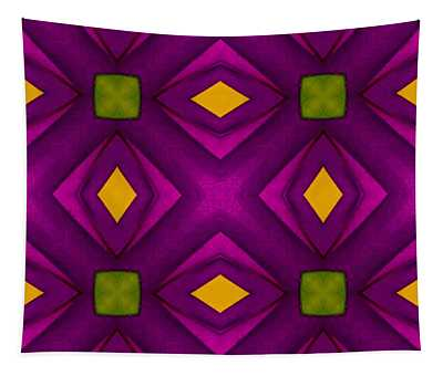 Vibrant Geometric Design Tapestry