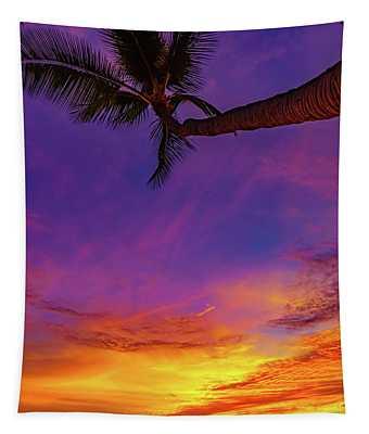 Vibrant Kona Inn Sunset Tapestry