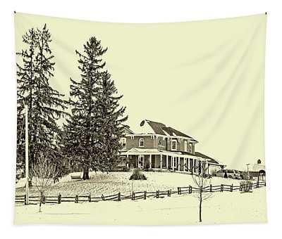 Victorian Farmhouse 2 Sepia Tapestry