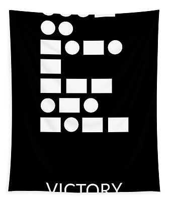 Victory Morse Code- Art By Linda Woods Tapestry