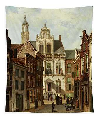 View A Dutch Town  Tapestry