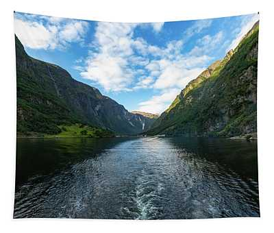 View Back To Gudvangen, Norway Tapestry