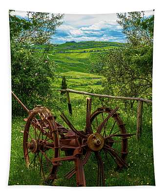 View From A Tuscan Farm Tapestry