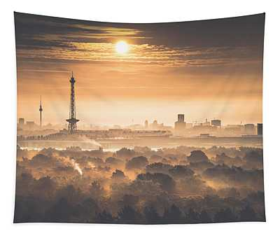 View From Drachenberg, Berlin, Germany, 2015 Tapestry