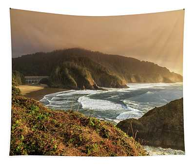 View From Heceta Head Tapestry