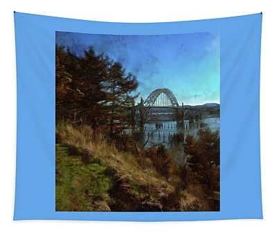 View From Yaquina Bay Park Tapestry