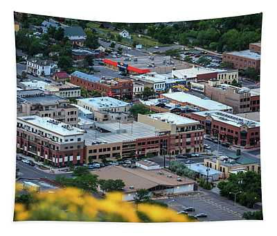 View Of Downtown Golden, Colorado From South Table Mountain Tapestry