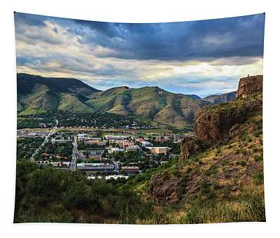 View Of Golden, Colorado From South Table Mountain Tapestry