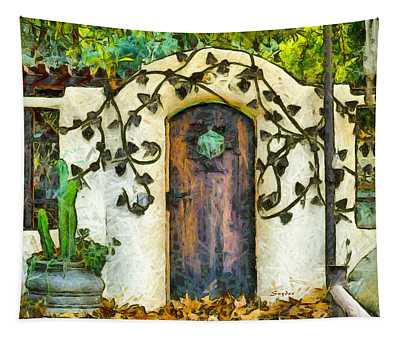 Vine On The Wall  Tapestry