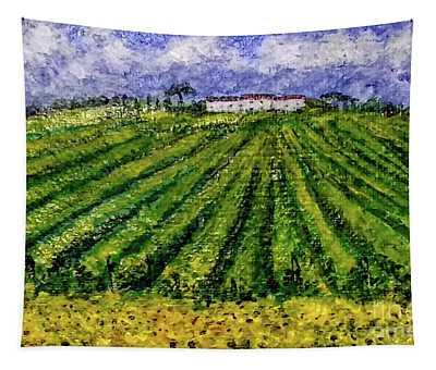 Vineyards Of Tuscany Tapestry