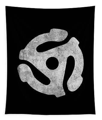 Tapestry featuring the digital art Vintage 45 Rpm Record Adapter by Flippin Sweet Gear