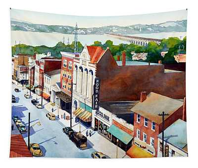 Vintage Color, Columbia Rooftops Tapestry