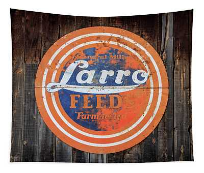 Vintage Farmhouse Feed Sign Tapestry