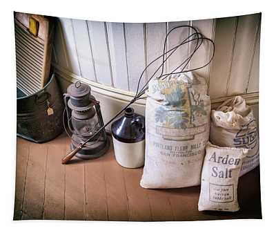 Vintage Farmhouse Flour Salt And Sugar Tapestry