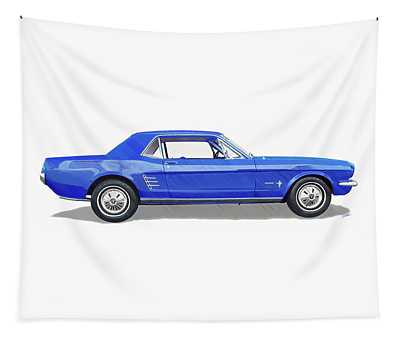 Vintage Ford Mustang - Dwp3864868 Tapestry