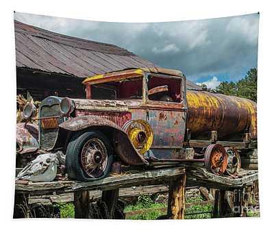 Vintage Ford Tanker Tapestry
