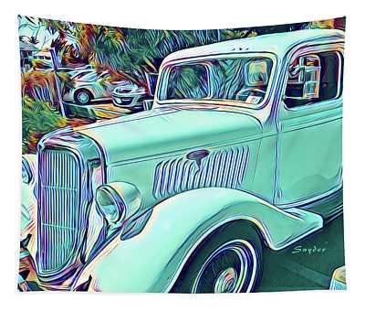 Vintage Truck Surreal Tapestry