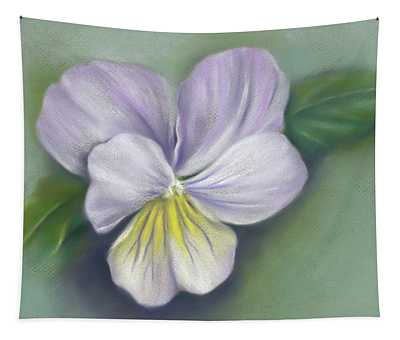 Viola Purple And Yellow Tapestry