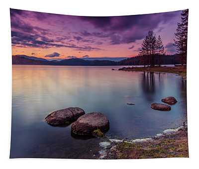 Violet Dusk Tapestry