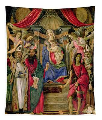 Virgin And Child With Saints From The Altarpiece Of San Barnabas, Tapestry