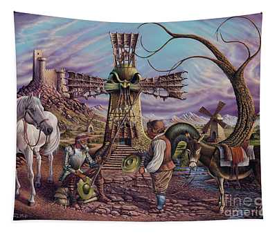 Visiones De Don Quijote Tapestry