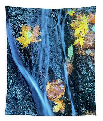 Wachlella Falls Detail Columbia River Gorge Tapestry