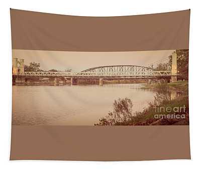 Waco Suspension Bridge Panoramic Tapestry