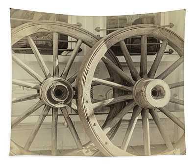 Wagon Wheels Tapestry