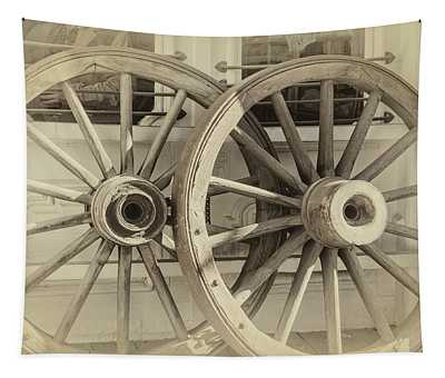 Wagon Wheels Tapestry