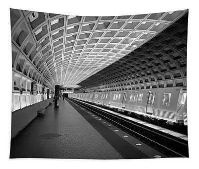 Waiting At Pentagon City Station Tapestry