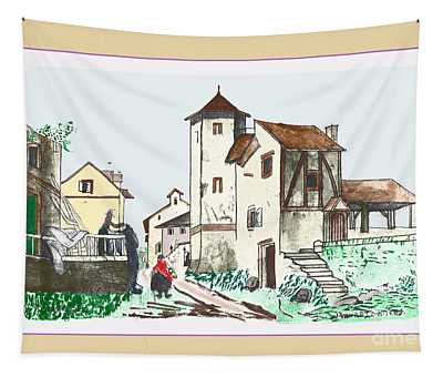 Walk Through Town Tapestry