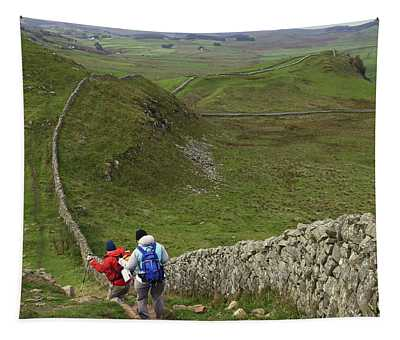 Walking Hadrian's Wall Path Tapestry