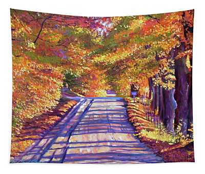 Walking In Vermont Tapestry