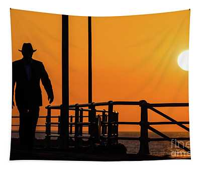 Walking Into The Sunset Tapestry