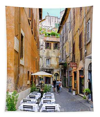 Walking The Cobblestone Streets Of Sorrento Italy Tapestry