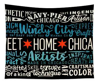 Wall Art Chicago Tapestry