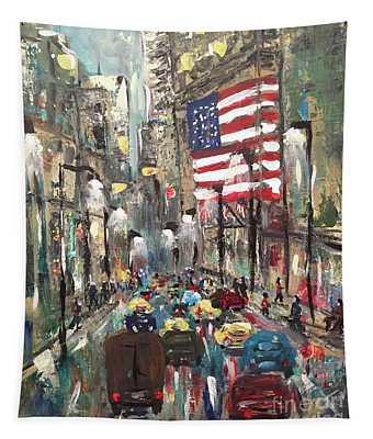 wall street NY Tapestry
