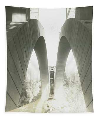 Walnut Lane Bridge Under Construction Tapestry