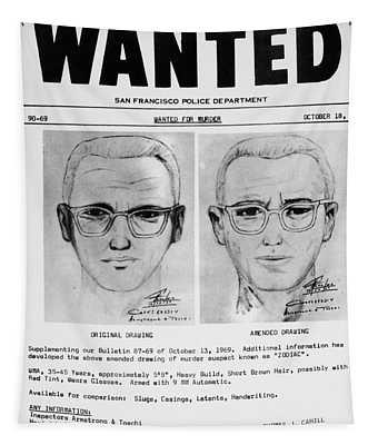 Wanted Zodiac Killer Tapestry