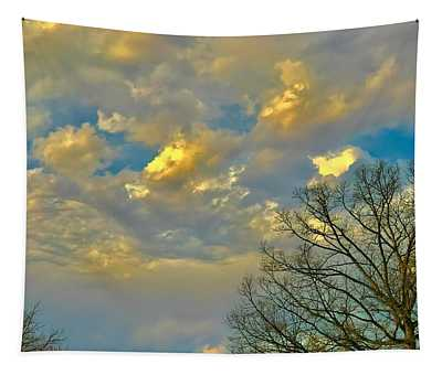 Warm And Cool Sky Tapestry