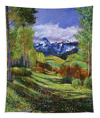 Warm Mountain Valley Tapestry